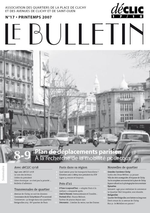 Bulletin de liaison N°17