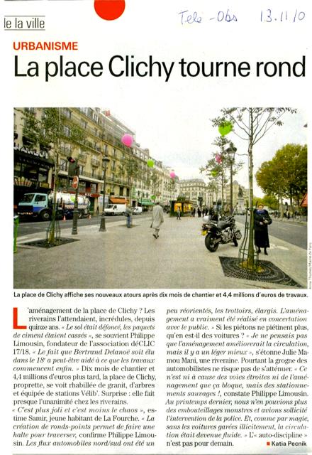 La nouvelle place de Clichy