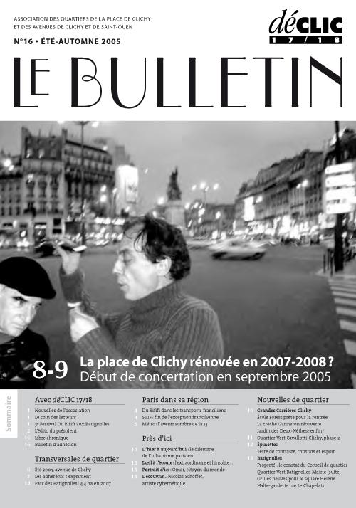 Bulletin de liaison N° 16