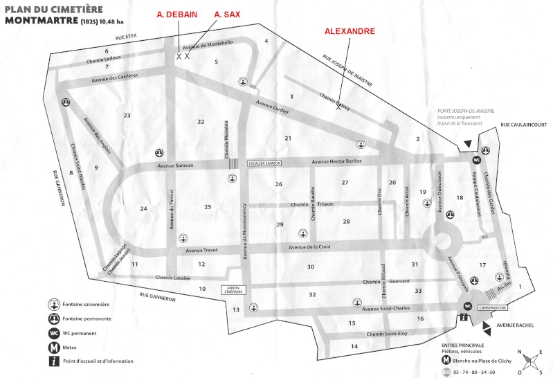 Plan du cimetière Montmartre