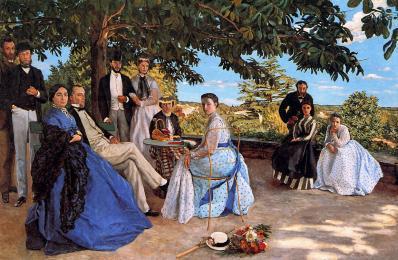 """Jean-Frédéric Bazille """"Réunion de famille, 1867, Musée d'Orsay, paris"""