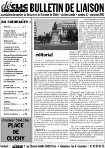 Bulletin de liaison N° 11