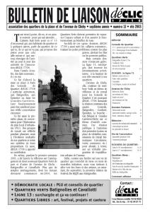 Bulletin de liaison N° 13
