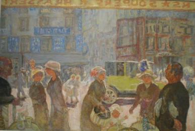 Place Clichy vue de la vitrine de la brasserie Wepler